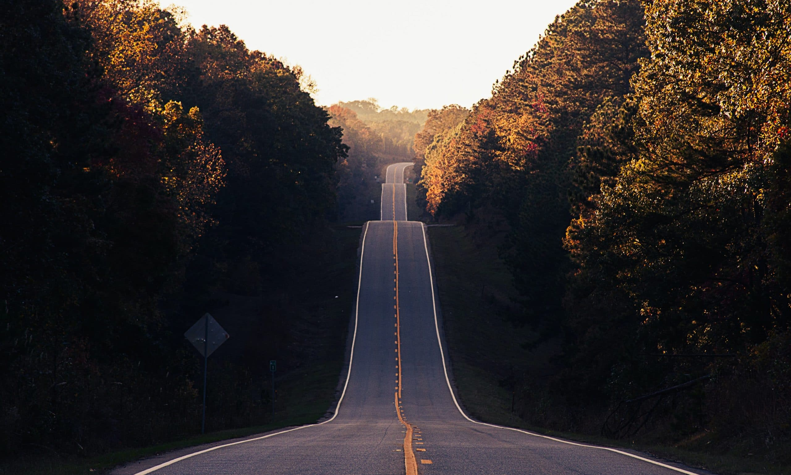 Road with hills